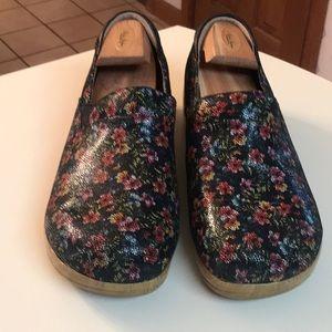 Alegria Floral Mosaic slip on shoes